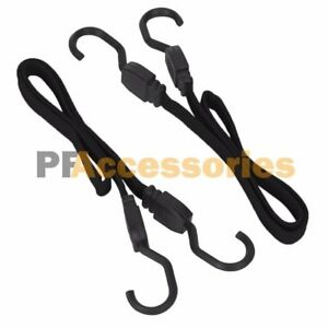"""2 Pcs 24"""" Flat Bungee Cord Strap Heavy Duty Tarp Bungie Elastic Tie Down w/ Hook"""