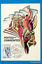 REGION POITOU CHARENTES  Carte Postale Maximum FDC Yt C 1851