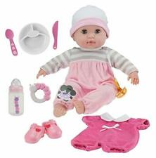 """Berenguer Boutique 15"""" Soft Body Baby Doll Pink 10 Piece Gift Set"""