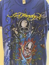 Ed Hardy by Don Ed Hardy Beaded Skull Graphic T-shirt. Size XL