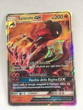 POKEMON card  # SALASZLE GX # GX EX MEGA RARA TURBO Carta ITA 25 / 147