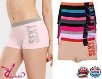 Lot of 6pcs Women Ladies Seamless Boy Shorts Panties One Size Sports Underwear