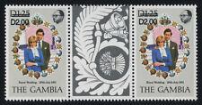Gambia 497c gutter pair MNH Prince Charles, Princess Diana Wedding (cr)