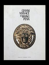 catalogo GIANNI VERSACE BY IRVING PENN limited edition spring summer 1992