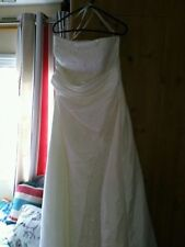 Unbranded A-line Plus Size Strapless Wedding Dresses