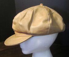 Wilsons Leather Tan Hat Cap Funky fun newsboy cabbie retro style funk-o-licious!
