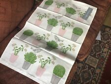 Thornback & Peel Tea Towel, Cactus and Bird,100% Cotton