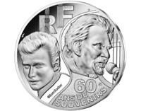 Johnny Hallyday 60 Ans de Souvenirs Monnaie De 10€ Argent