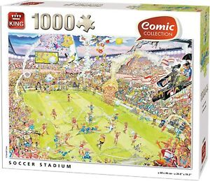 King 1000 Piece Jigsaw Puzzle Comic Collection - Soccer Stadium - New Sealed