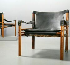 1 von 2 Arne Norell Scirocco Safari Chair Made in Sweden 1960s Vintage Sessel