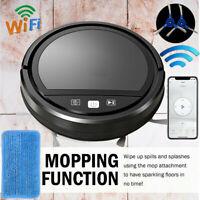 Smart WiFI Robot Vacuum Cleaner Auto Cleaning Microfiber Mop Floor Sweeper APP