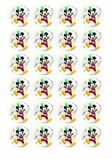 24 x MICKEY MOUSE Wafer Rice Paper Cupcake Toppers EDIBLE CAKE DECORATION DISNEY