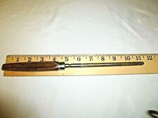 Vintage Rod Knife Sharpener Steel 11 Inches Bakelite Handle Brown Marbled Wear