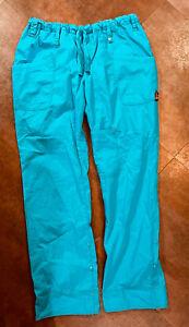 Women's KOI Nikki Drawstring Blue Scrub Pants Size XL
