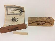 Antique/Vintage Herter's World Famous Plantation Turkey Game Calls Original Box