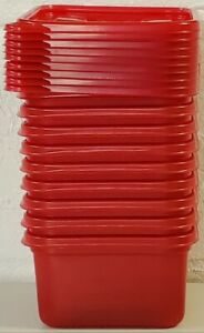9 Ziploc Medium Square 1.25 Qt  RED Containers Limited Edition Winter NEW NO BOX