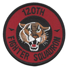 """3.5"""" AIR FORCE 120TH FIGHTER SQUADRON EMBROIDERED PATCH"""