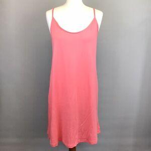 CHEMISE Salmon Pink Jersey Strappy NIGHTIE Size 8-10 BNWT Knee Length Nightwear