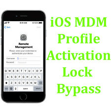 Apple iPhone iPad Air Touch Gen iPod MDM Remote Management Bypass All iOS - FAST