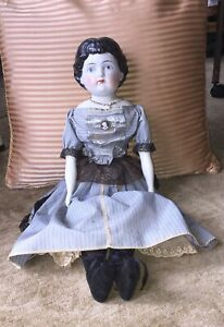 China Head Doll Antique Cloth Body Dress Under Garments Clothing Porcelain Hand