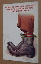 "Postcard Humour Boots "" we Hope to Hear The Patter of Tiny Feet Regent X318"