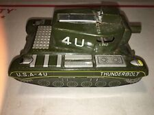 1940s 1950s Pressed Steel Metal Tin Japan Thunderbolt Cap Firing USA Army Tank