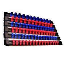 6Stk 1/2 3/8 1/4 ABS Steckschlüssel Halter Halterschiene Holder Klemmleiste Nuss
