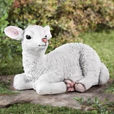 Baby Lamb Garden Figurine - Easter Spring Lawn Garden Outdoor Decor Rabbits