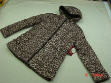 NWT NWOT Women's Faded Glory Bubble Coat Leopard Print Detachable Hood New Warm
