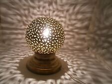 1001 Nachts  Kugel Messing Lampe in New Berber Effekt aus Marokko