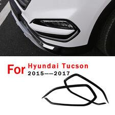For Hyundai Tucson 2016 2017 2018 Front Fog Light lamp Cover Trim Gloss Black