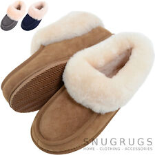 SNUGRUGS Ladies Womens Luxury Sheepskin Slipper Boot / Booties with Rubber Sole