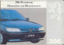 Peugeot 306 Hatchback & Sedan 1993-97 original Owner's Handbook in English