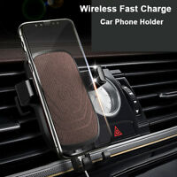 Qi Wireless Quick Charger Car Mount Holder For iPhone X 8 Samsung Note8 S8 S9