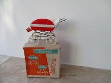 60er/70er Jahre DDR Korbi Puppenwagen, Sportwagen mit OVP für die Puppenstube