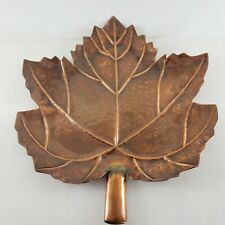 "Brass Maple Leaf Candy Dish Trinket Dish 13½"" x 12"" Veins and Peens Well Made"