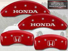 "2016-2020 ""Honda"" Civic EX LX EXL Front Rear Red MGP Brake Disc Caliper Covers H"