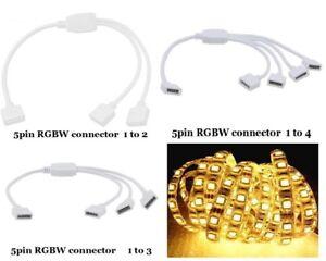 LED Verbinder 4 pin RGB 5 polig RGBW Y Verteiler Adapter 1zu2 1zu3 1zu4 Stripe