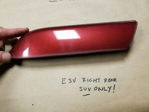 02-09 Cadillac Escalade ESV SUV ONLY! RED RIGHT REAR Roof Rack Cap Cover Trim