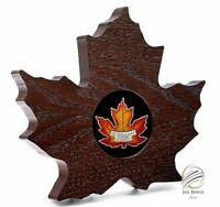 🇨🇦2016 Canada $20 1 oz Silver $20 Proof Maple Leaf Shape Coin Colorized OGP🍁