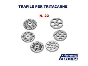 TRAFILA PIASTRA IN ACCIAIO PER TRITACARNE N.22 FORI 3/4,5/6/8/10/12/16/20 mm