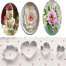 4PCS Fondant Cake Decoration Floral petal Mould Cutter Gum paste Peony Mold Tool