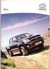 TOYOTA HILUX PICK-UP 2007-09 UK Opuscolo Vendite sul mercato Doppia Cabina Singola Extra