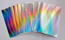 Hunkydory 10 Sheets Rainbow Shimmer Mirri Mats Mirror Craft Card