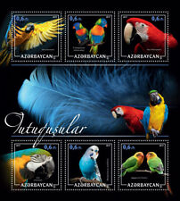 Azerbaijan Birds on Stamps 2017 MNH Parrots Lorikeets Macaws Lovebirds 6v M/S