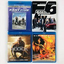 4 Vin Diesel Blu-ray Lot - xXx Riddick Fast Five Fast & Furious 6 (Steelbook)