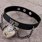 Heart Dangle Pendant Chain Punk Goth Leather Necklace Collar Choker Sexy Newly