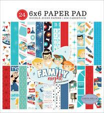 """New Carta Bella 6""""x6"""" Paper Pad Family Night"""