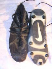 Vintage 12.5 NIKE Alpha Black Grey Football Cleat Rubber Synthetic Sport Lace Up