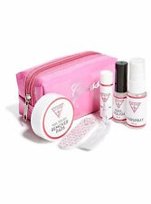 NWT Guess Pink & White Vinyl & Silver Fashion Emergency Kit/Case